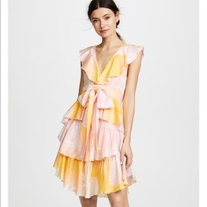 Cynthia Rowley Jetset Pineapple bow tie dress